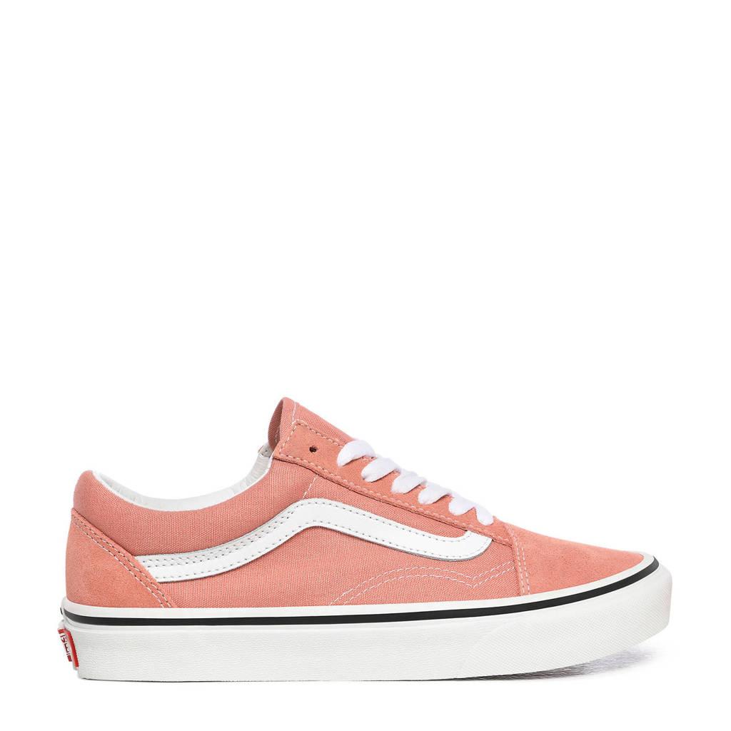 VANS Old Skool  suède sneakers roze/wit, Oudroze/wit