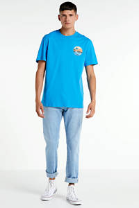 ONLY & SONS T-shirt met printopdruk turqoise, Turqoise