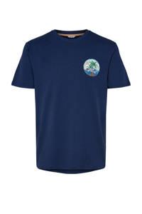 ONLY & SONS T-shirt met printopdruk marine, Marine