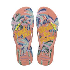 Slim Summer  teenslippers roze/multi