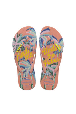 Slim Summer  teenslippers roze/multi