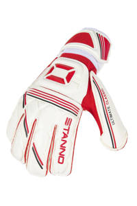 Stanno   keepershandschoenen sr Ultimate Grip II wit/rood, Wit/rood
