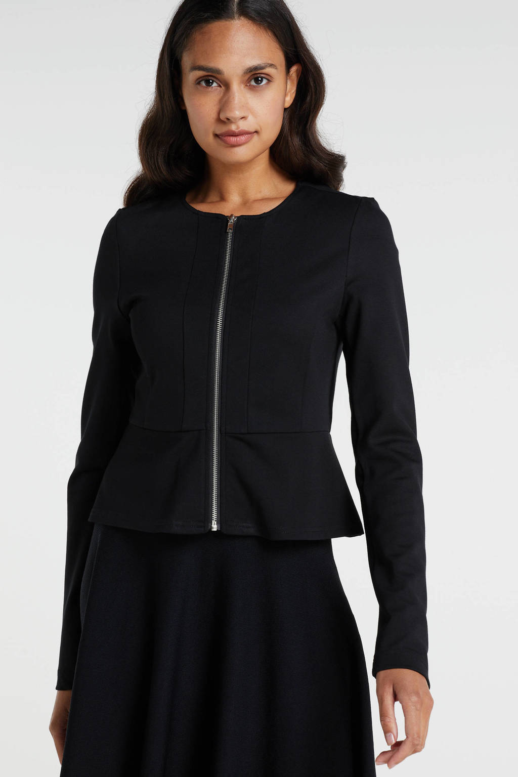 ONLY fijngebreid vest Poptrash zwart, Zwart