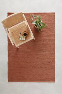 wehkamp home vloerkleed Savi met flosjes  (170x120 cm), Koper