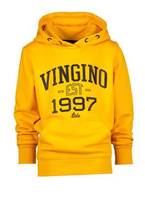 hoodie Nonko met logo warm geel