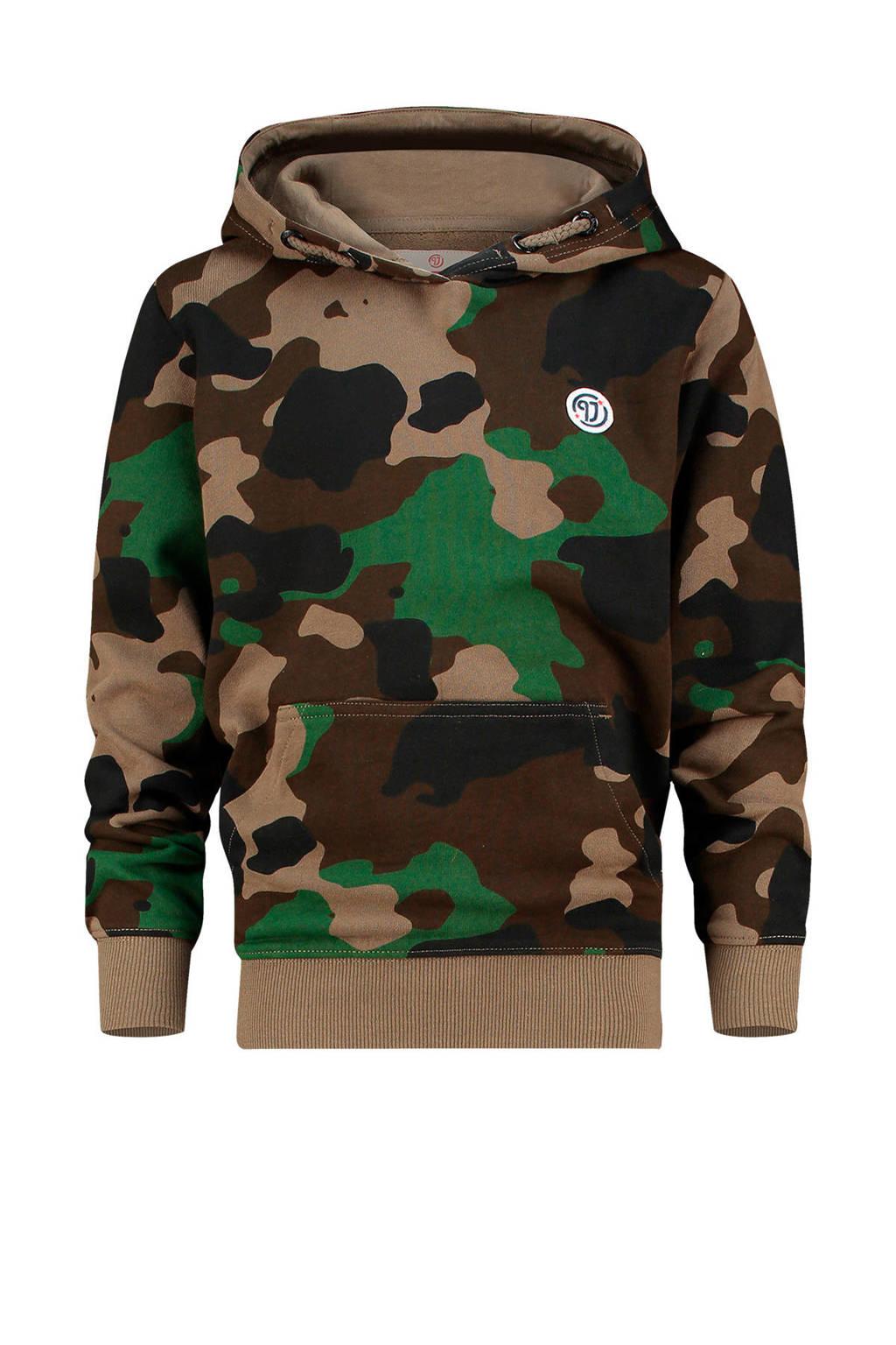 Vingino hoodie Nino met camouflageprint donkergroen/groen, Donkergroen/groen