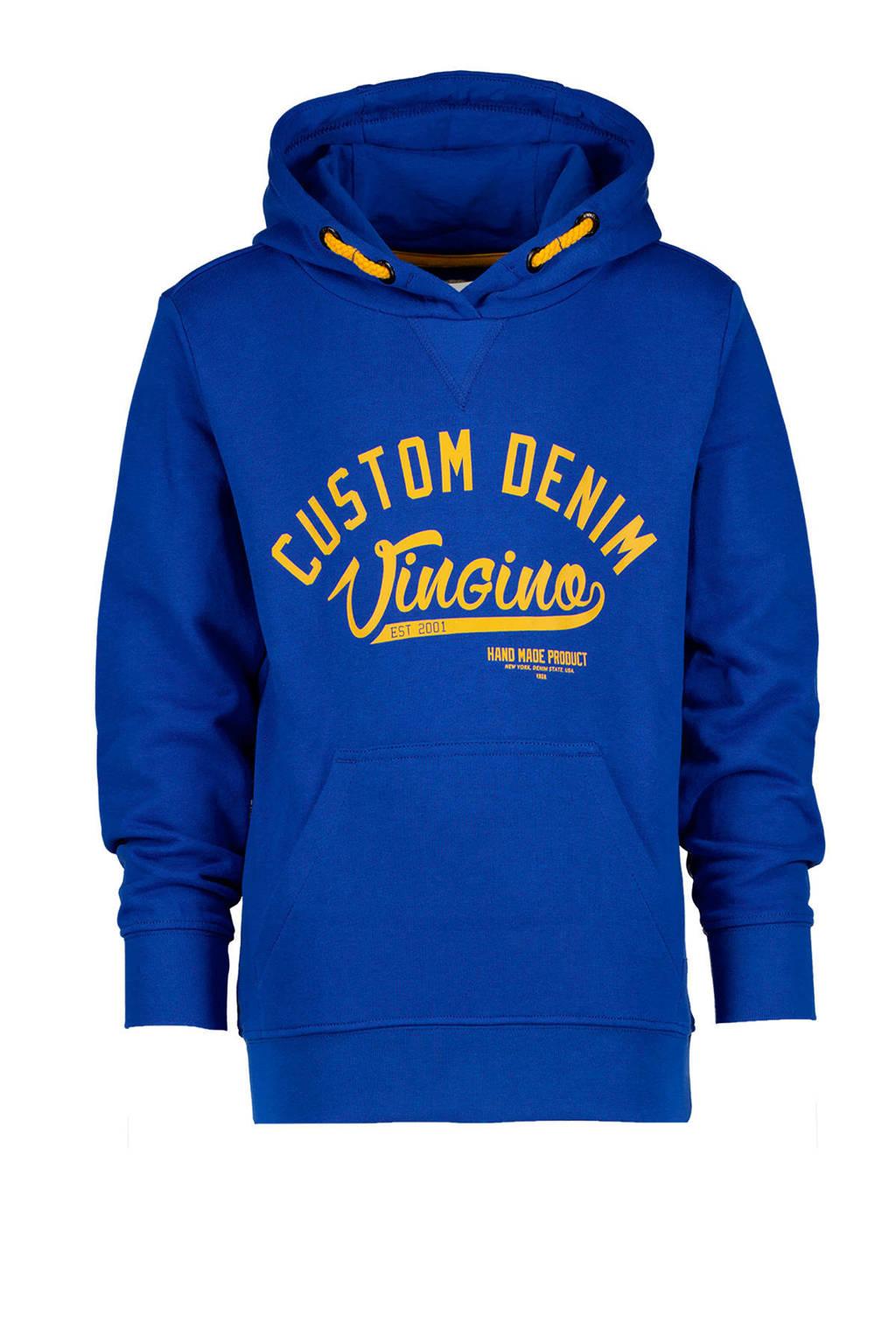 Vingino hoodie Nolu met logo hardblauw, Hardblauw