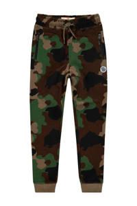 Vingino skinny joggingbroek Sador met camouflageprint donkergroen/groen, Donkergroen/groen