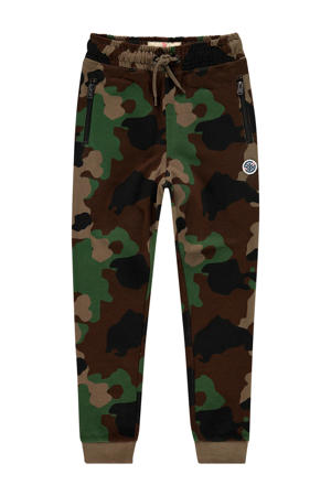 skinny joggingbroek Sador met camouflageprint donkergroen/groen
