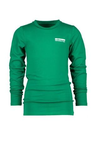 longsleeve Jefbo met logo groen