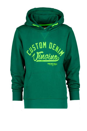 hoodie Nolu met logo groen