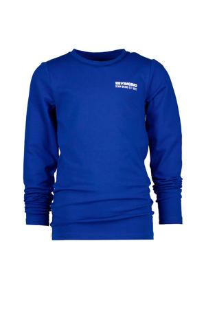 longsleeve Jefbo met logo hardblauw