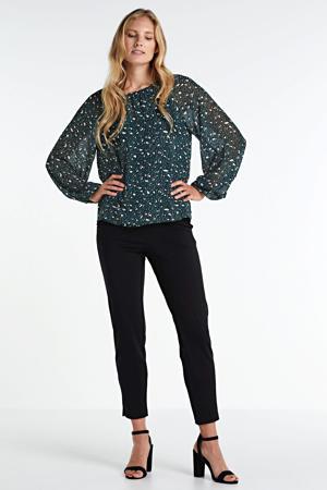 cropped slim fit broek Lilith zwart