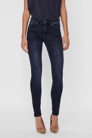 slim fit jeans Ella met biologisch katoen donkerblauw