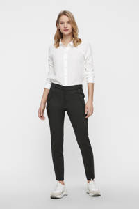 VERO MODA cropped slim fit pantalon Victoria donkergroen, Donkergroen