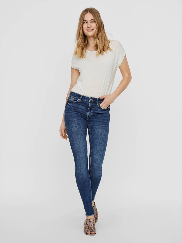 VERO MODA high waist skinny jeans Hanna blauw, Blauw