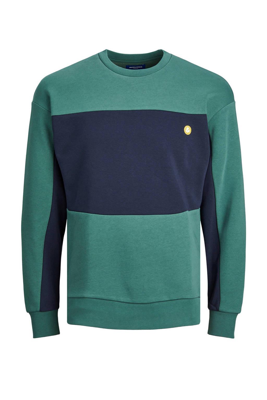 JACK & JONES ORIGINALS sweater groen/marine, Groen/marine