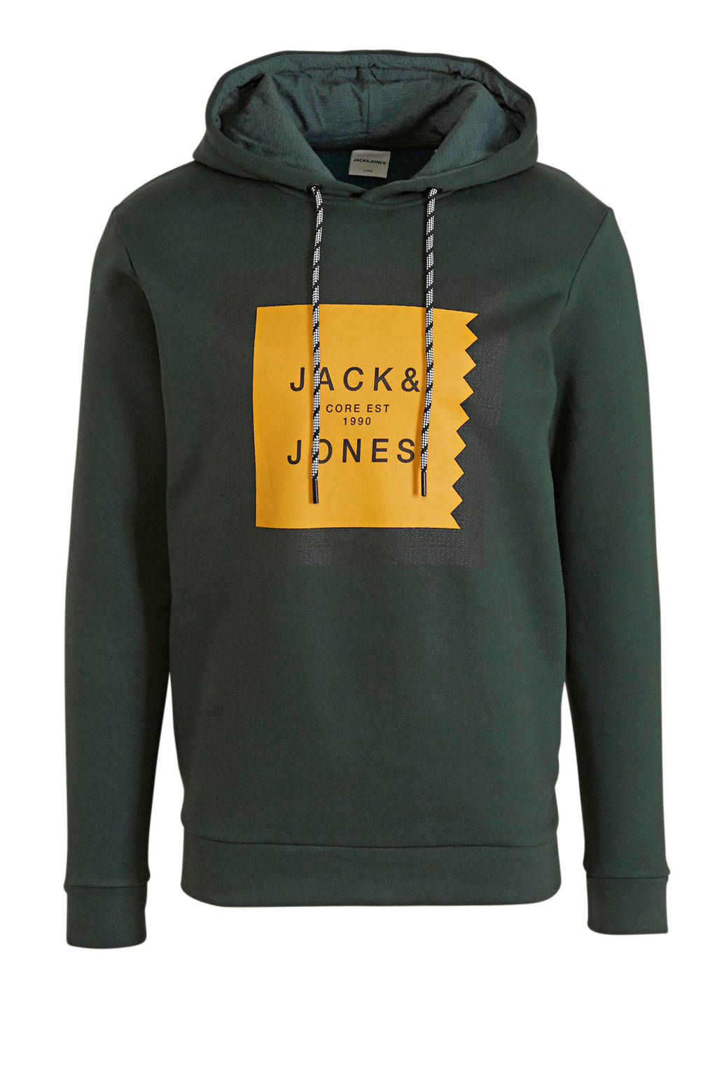 JACK & JONES CORE hoodie met printopdruk donkergroen, Donkergroen