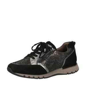 Ginga comfort leren sneakers zwart/metallic