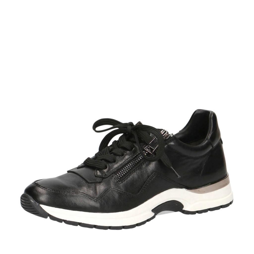 Caprice Lea  leren sneakers zwart, Zwart