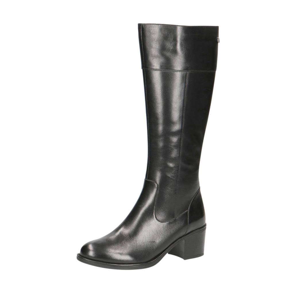 Caprice Country  leren laarzen zwart, Zwart