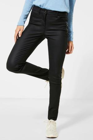 coated skinny broek Vicky zwart