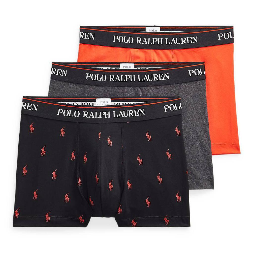 POLO Ralph Lauren boxershort (set van 3), Zwart/grijs/rood