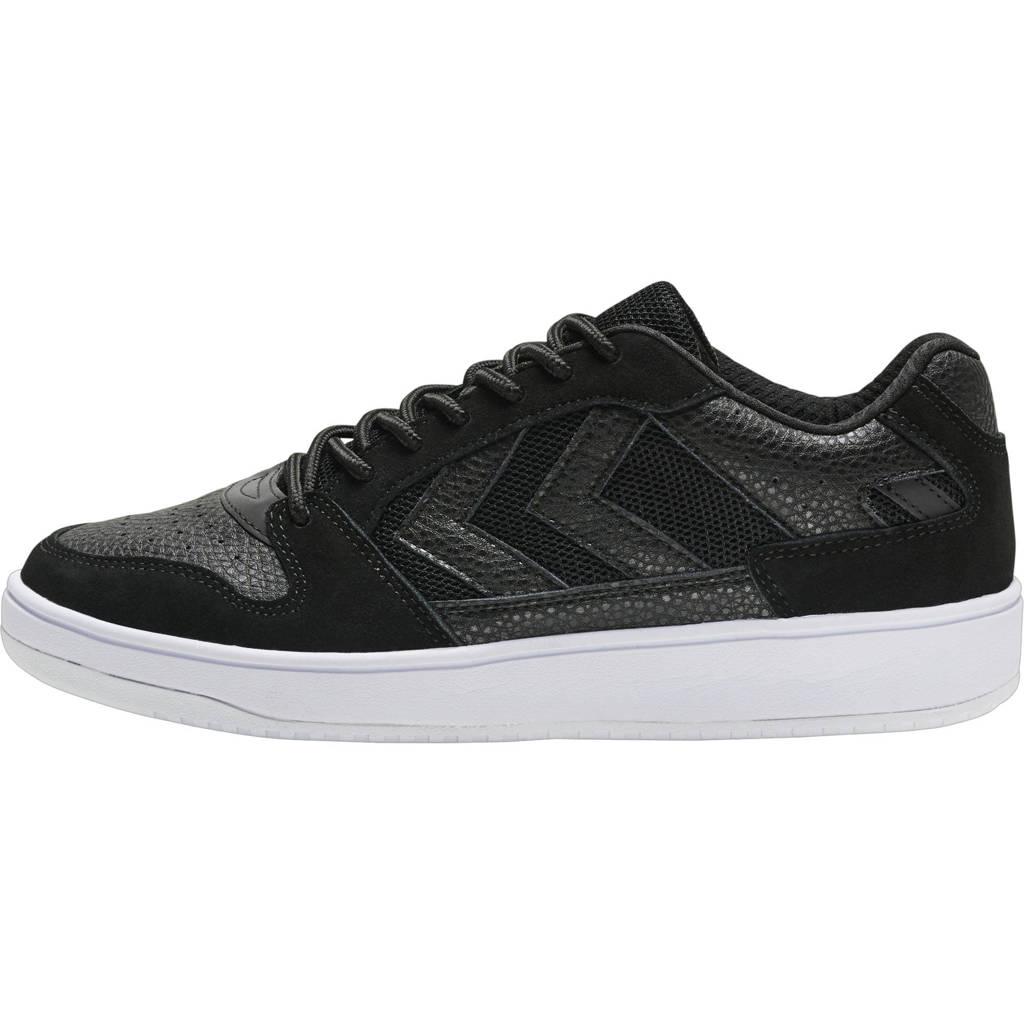hummel ST Power Play Low  leren sneakers zwart, Zwart
