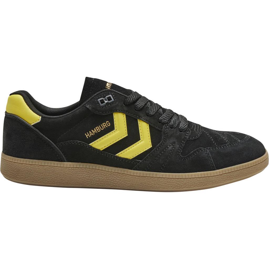 hummel HB Team Suede  sneakers zwart/geel, Zwart/geel
