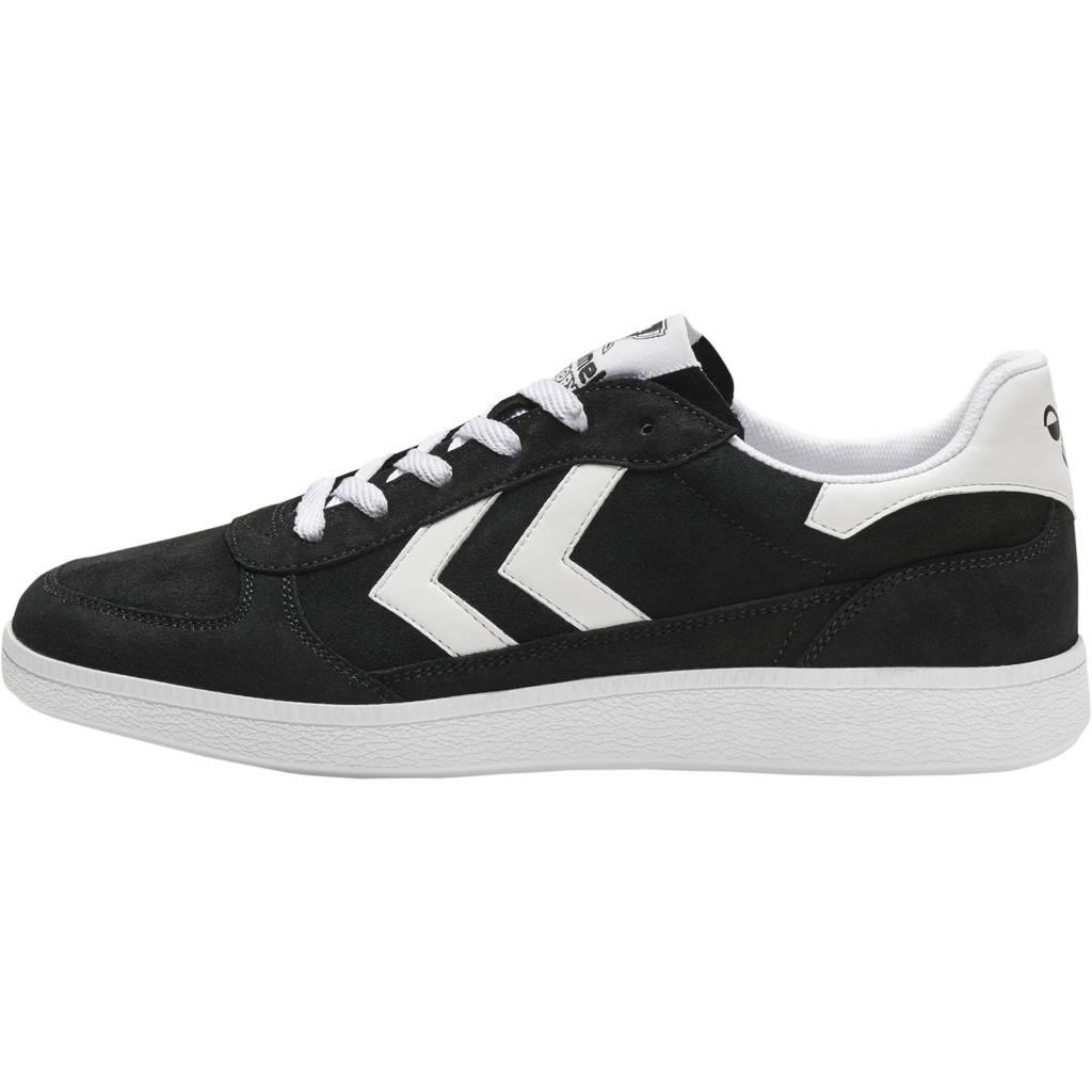 hummel Victory  suede sneakers zwart/wit, Zwart/wit