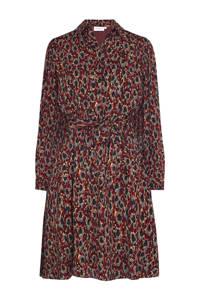 Fabienne Chapot blousejurk Country met all over print en ceintuur roodbruin, Roodbruin