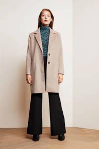 Fabienne Chapot coat Flori van gerecycled polyester beige, Beige