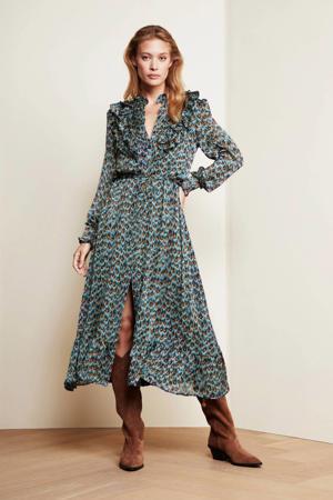 jurk Fia van gerecycled polyester blauw