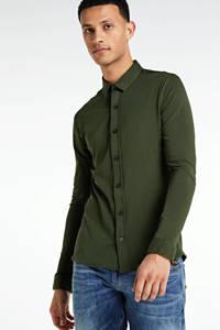 Purewhite slim fit overhemd groen, Groen