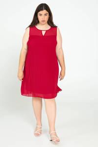 Paprika jurk met open detail rood, Rood