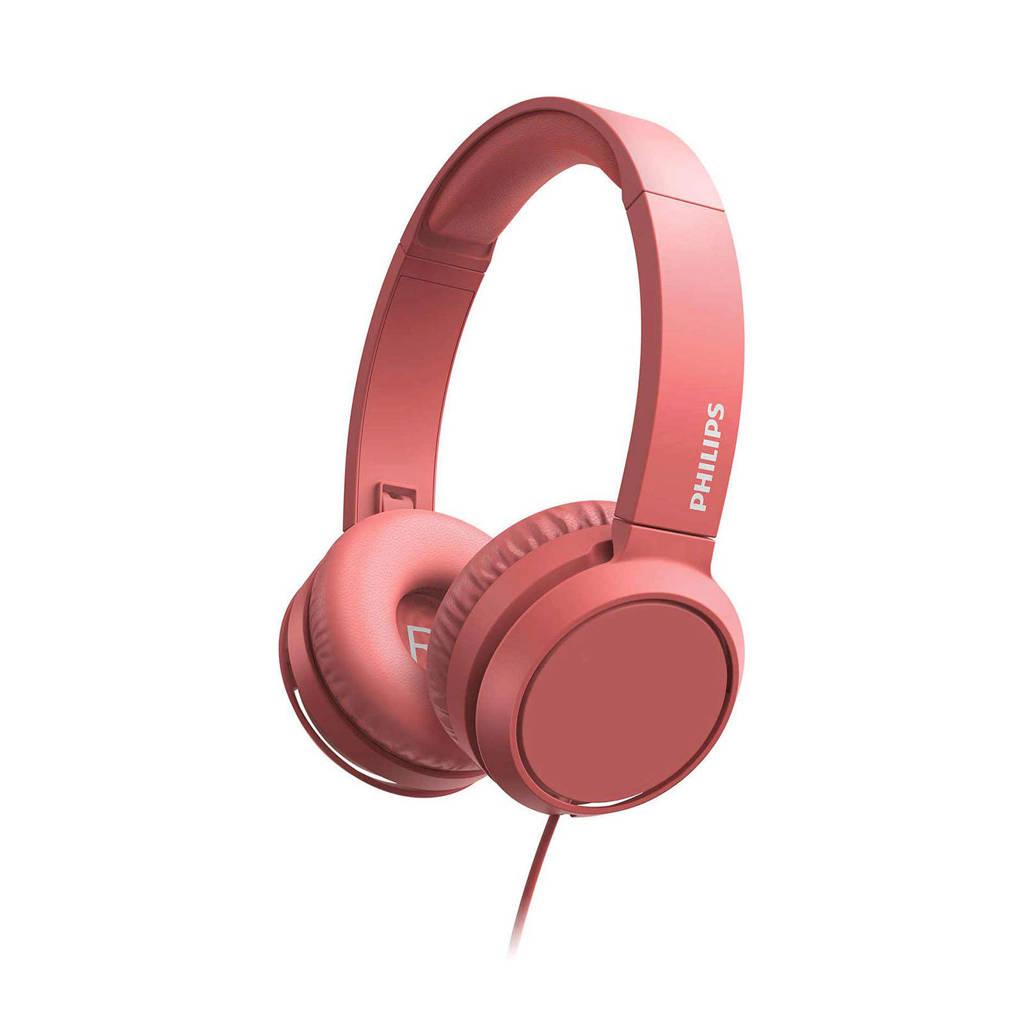 Philips TAH4105RD/00 on-ear hoofdtelefoon (rood), Rood