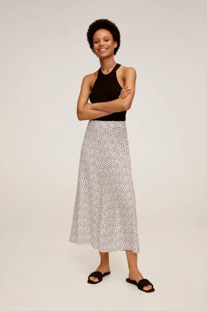 rok met stippen gebroken wit/ zwart