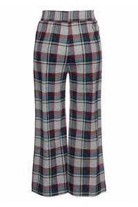 s.Oliver geruite flanellen pyjamabroek grijs/petrol, Grijs/petrol/rood