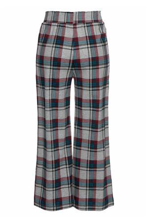 geruite flanellen pyjamabroek grijs/petrol