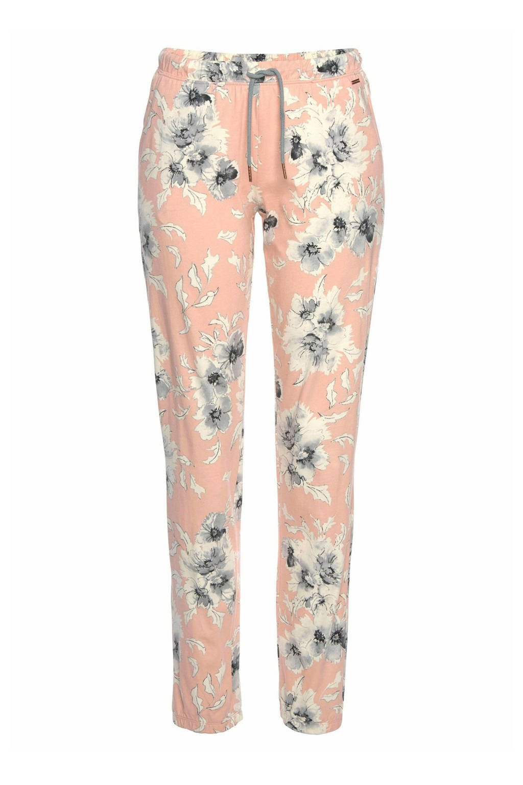Lascana gebloemde pyjamabroek roze, Roze