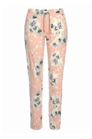 gebloemde pyjamabroek roze