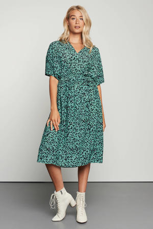 jurk Myla met all over print groen