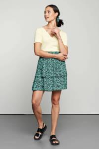 Catwalk Junkie rok Myla met all over print en volant groen, Groen