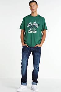 Pepe Jeans T-shirt met printopdruk groen/wit/blauw, Groen/wit/blauw