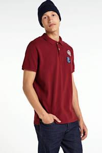 Pepe Jeans regular fit polo met printopdruk rood, Rood