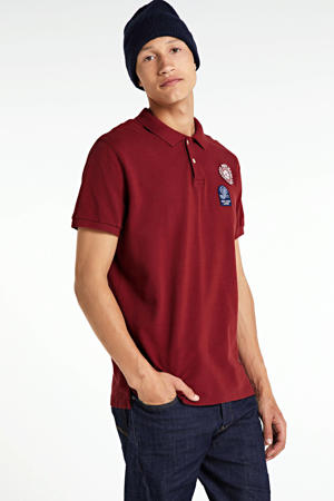regular fit polo met printopdruk rood