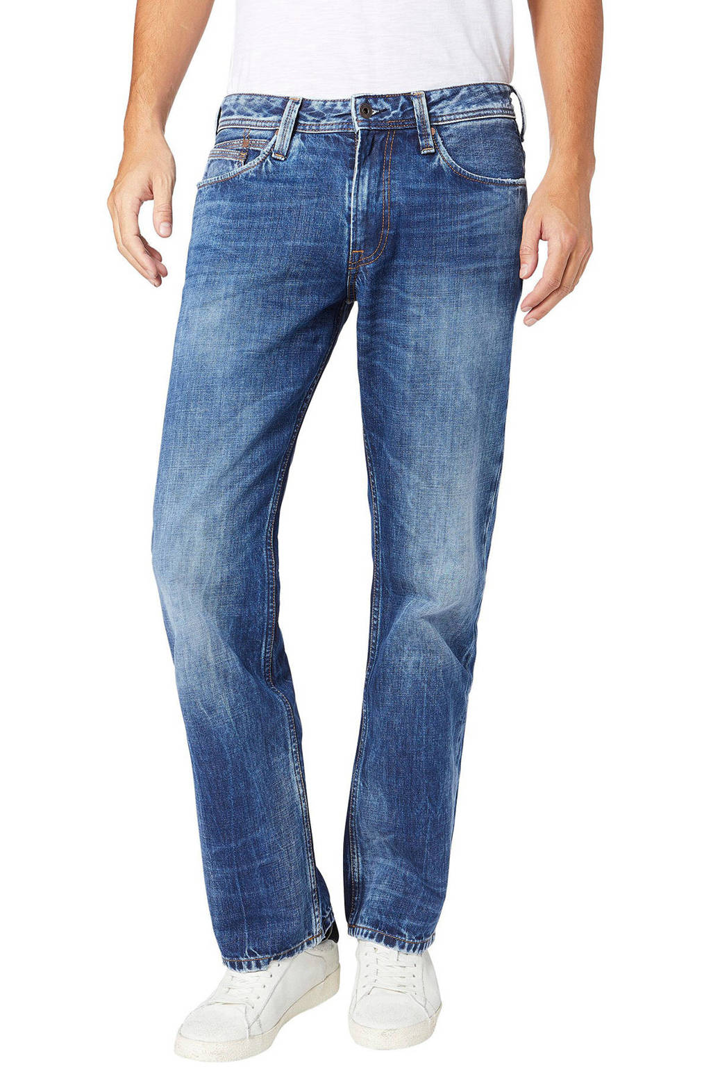 Pepe Jeans tapered fit jeans New Jeanius blauw, Blauw