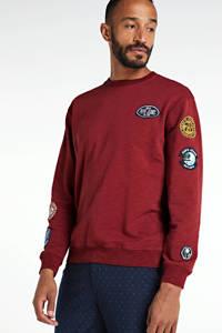 Pepe Jeans sweater met printopdruk rood, Rood