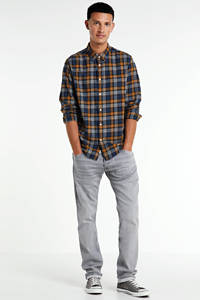 Pepe Jeans geruit regular fit overhemd Telford donkerblauw/camel, Donkerblauw/camel