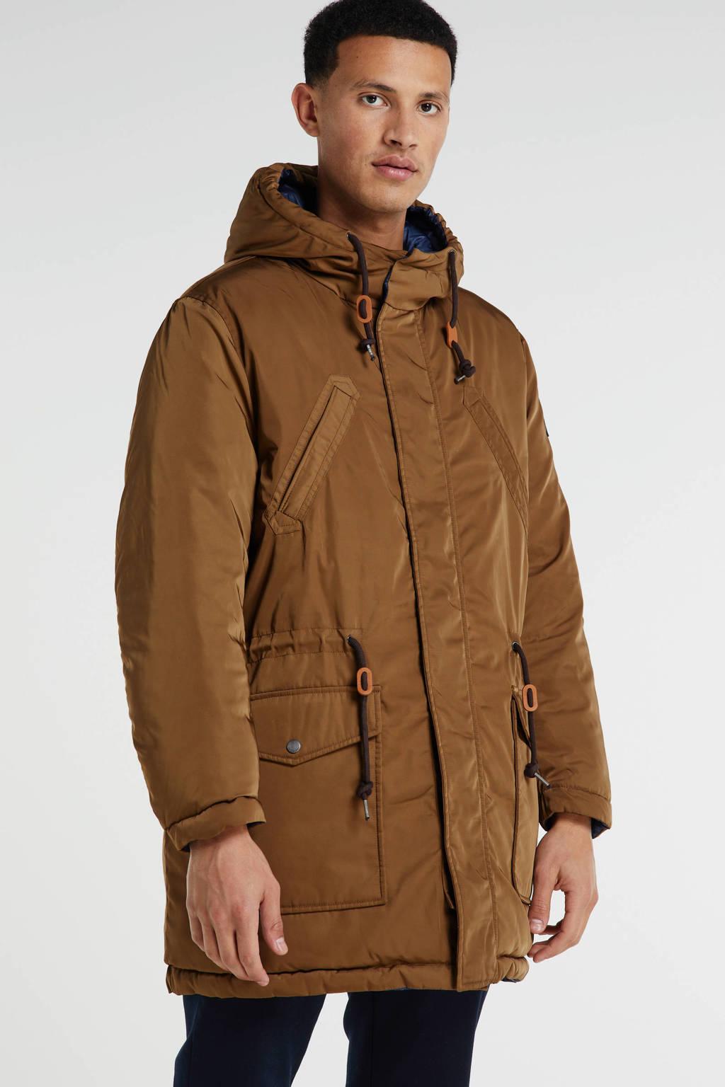 Pepe Jeans reversible jas bruin/donkerblauw, Bruin/donkerblauw